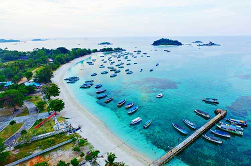 Image result for pantai tanjung kelayang HD